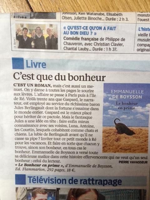 Parisien bonheur 1er juin
